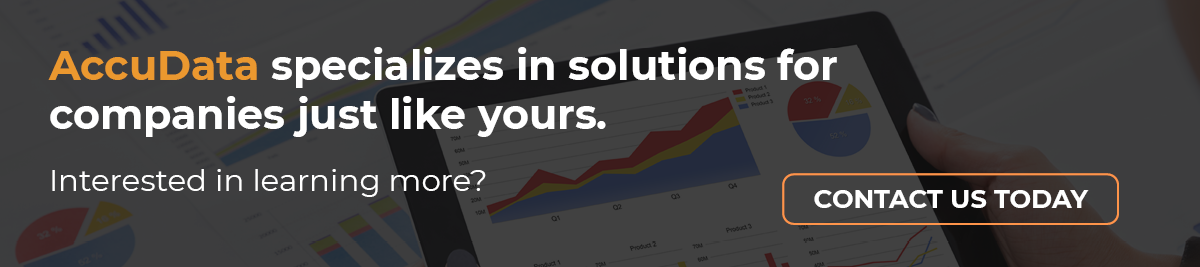 Contact AccuData today for a solution to your marketing analytics needs.