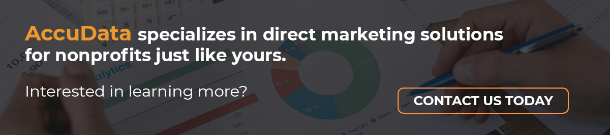 If your organization is exploring direct marketing for nonprofits, contact AccuData today.